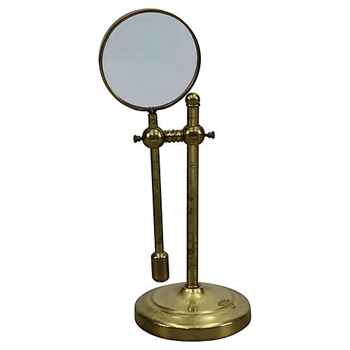 Standing Brass Magnifying Glass