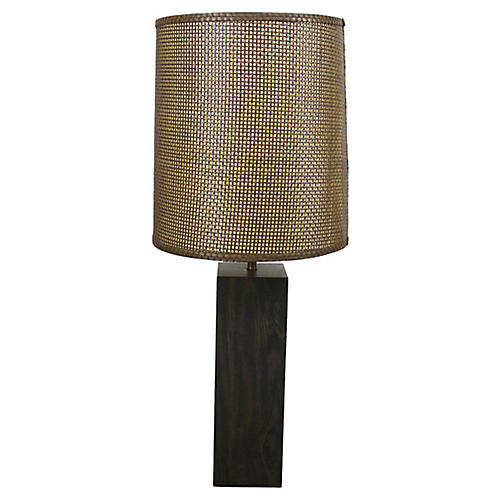 Mid-Century Walnut Table Lamp