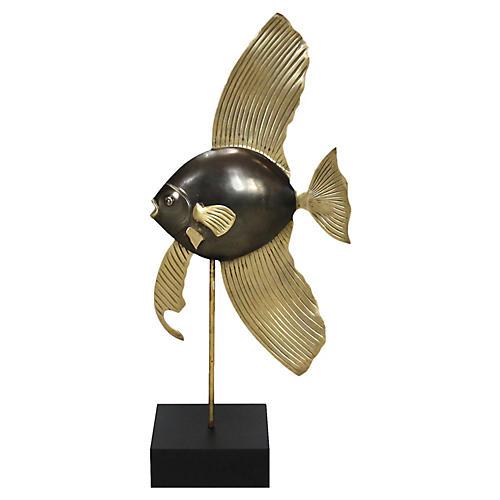 Midcentury Brass Angel Fish