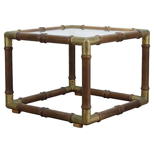Mid-Century Wood Side Table