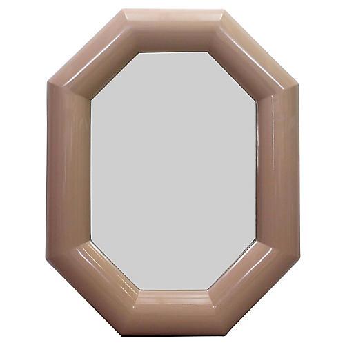 Mid-Century Blush Pink Mirror
