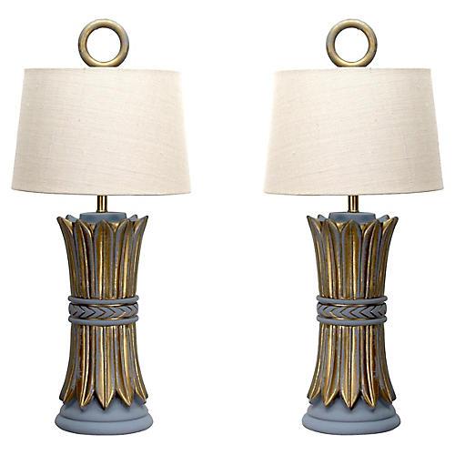 Pair of Hollywood Regency Table Lamps