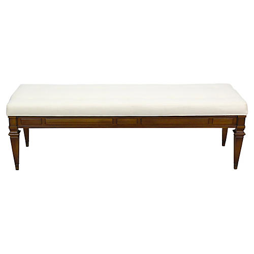 Midcentury Upholstered Bench