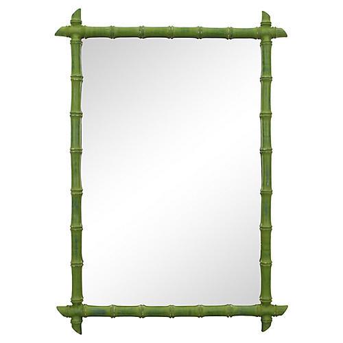 Mid Century Faux Bamboo Mirror