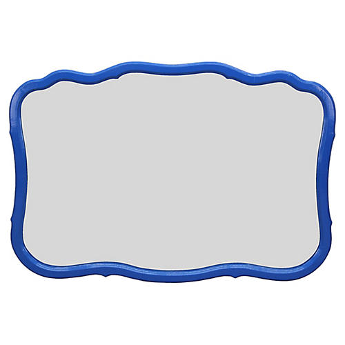Scalloped Blue Mirror