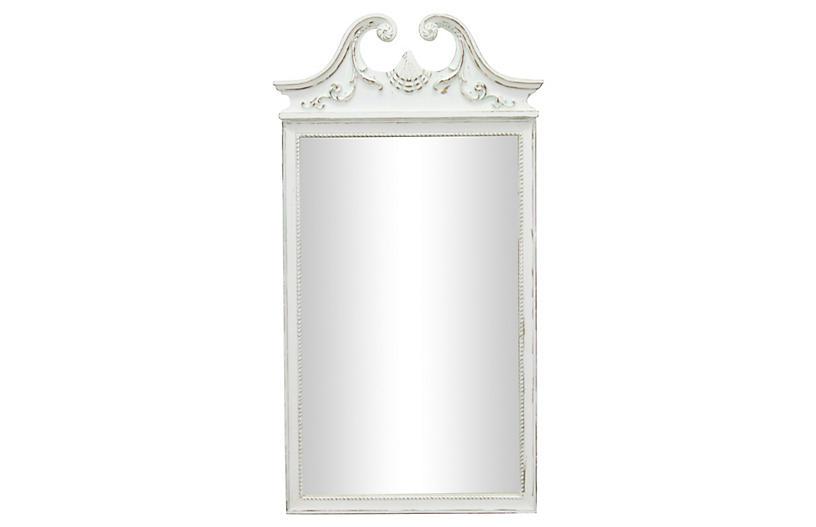 Regency-Style White Mirror
