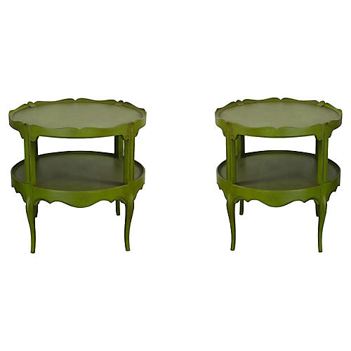 2-Tiered Scalloped Side Tables