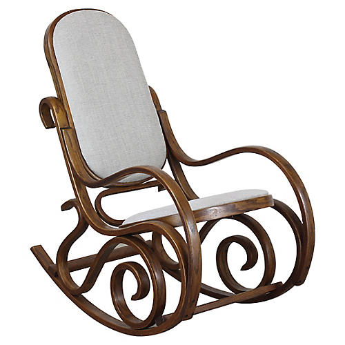 Lovely Bentwood Rocking Chairs With Crea