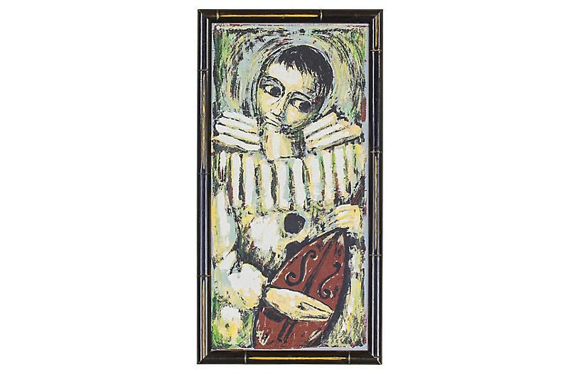 Mid-Century Acrylic Painting