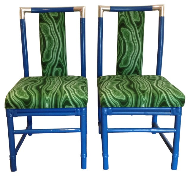 Campaign-Style Chairs, Pair