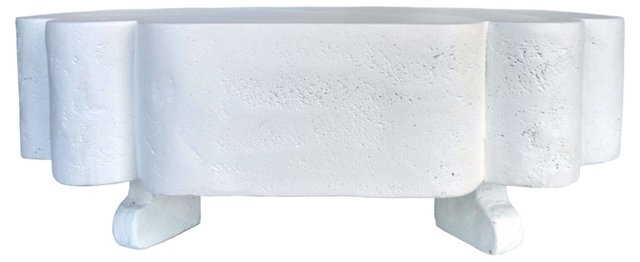 Faux-Plaster Coffee Table