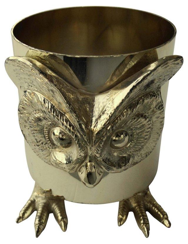 Brass Owl Wine Bottle Holder