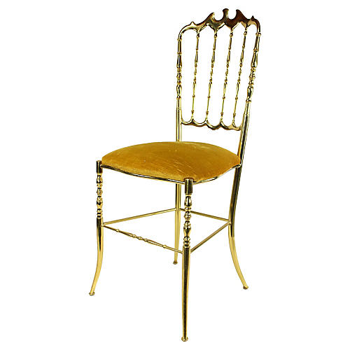 Italian Chiavari Gold Accent Chair