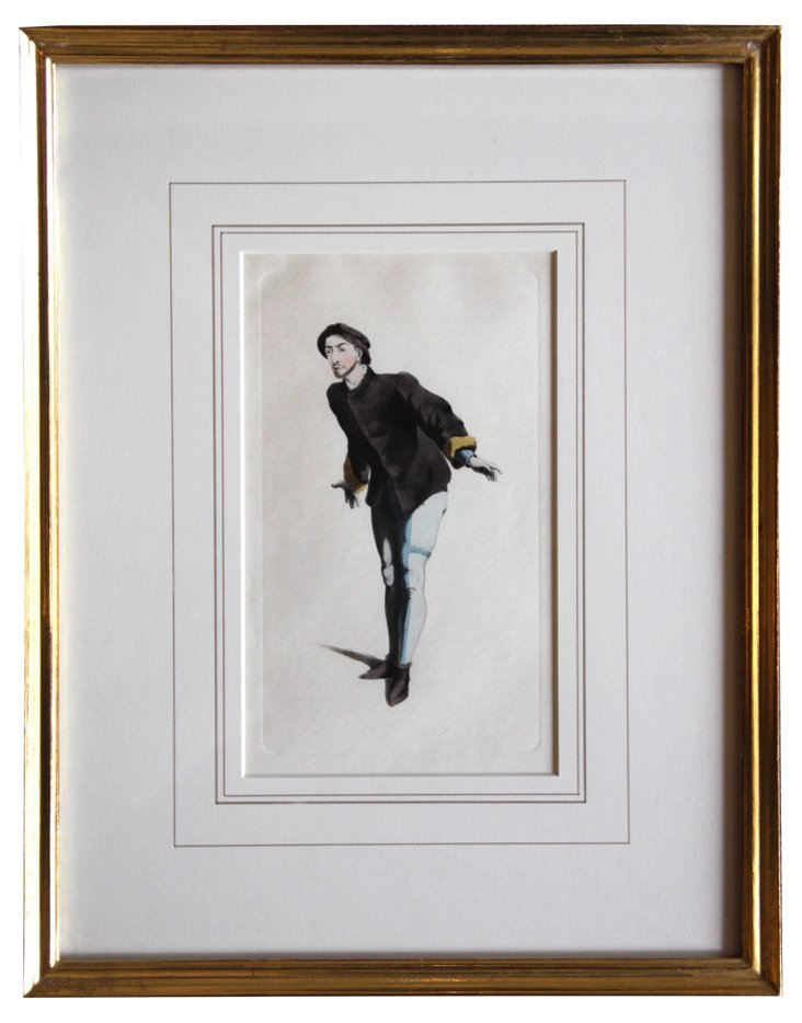 Antique Theatrical Character  Print