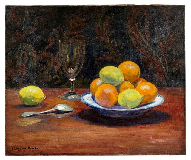 Still Life of Oranges & Lemons