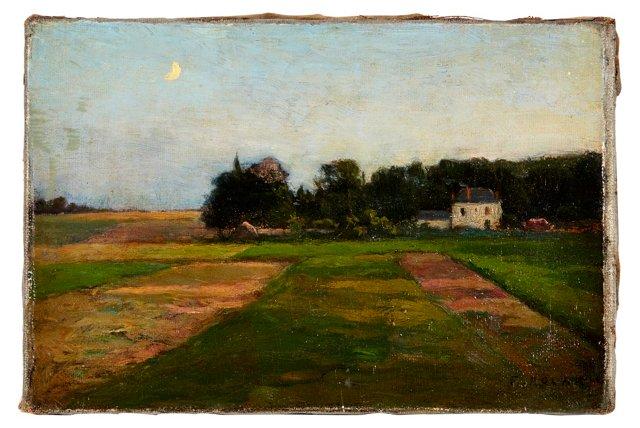 Moon Over Farmhouse