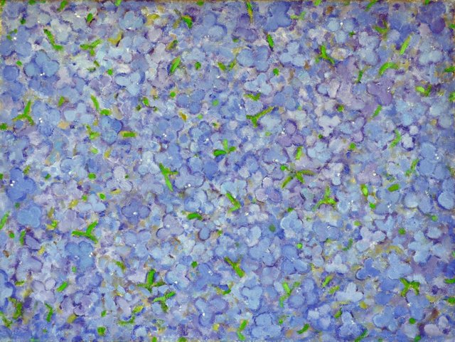 Blue Floral Abstract