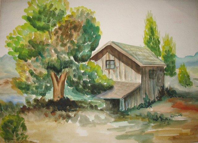 Barn w/ Tree