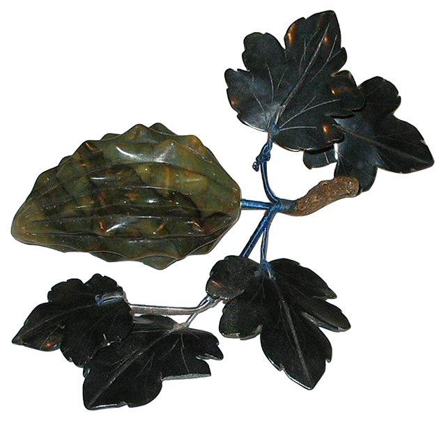 Green Carved Jadeite Fruit