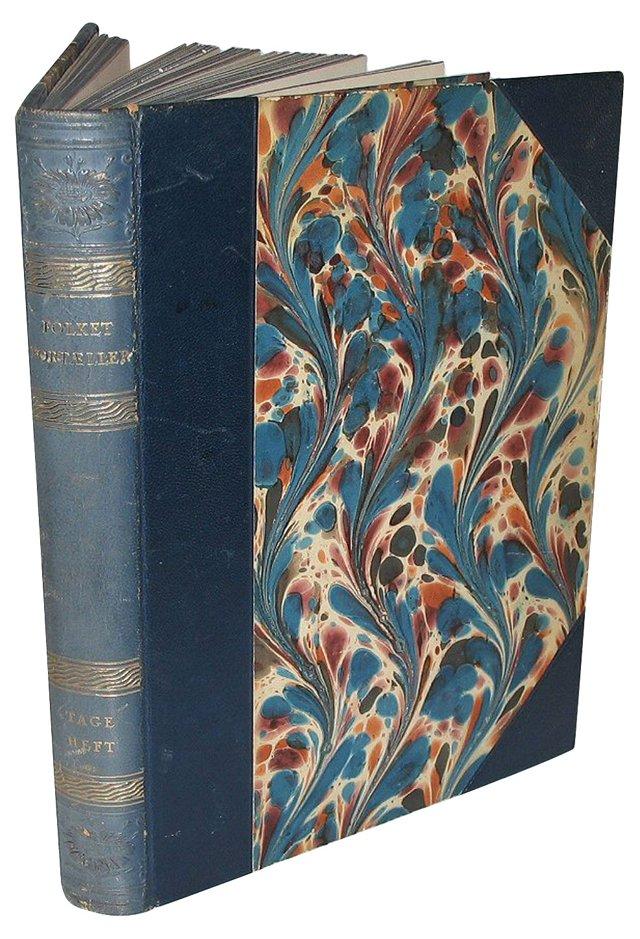 Decorative Blue Leather Book