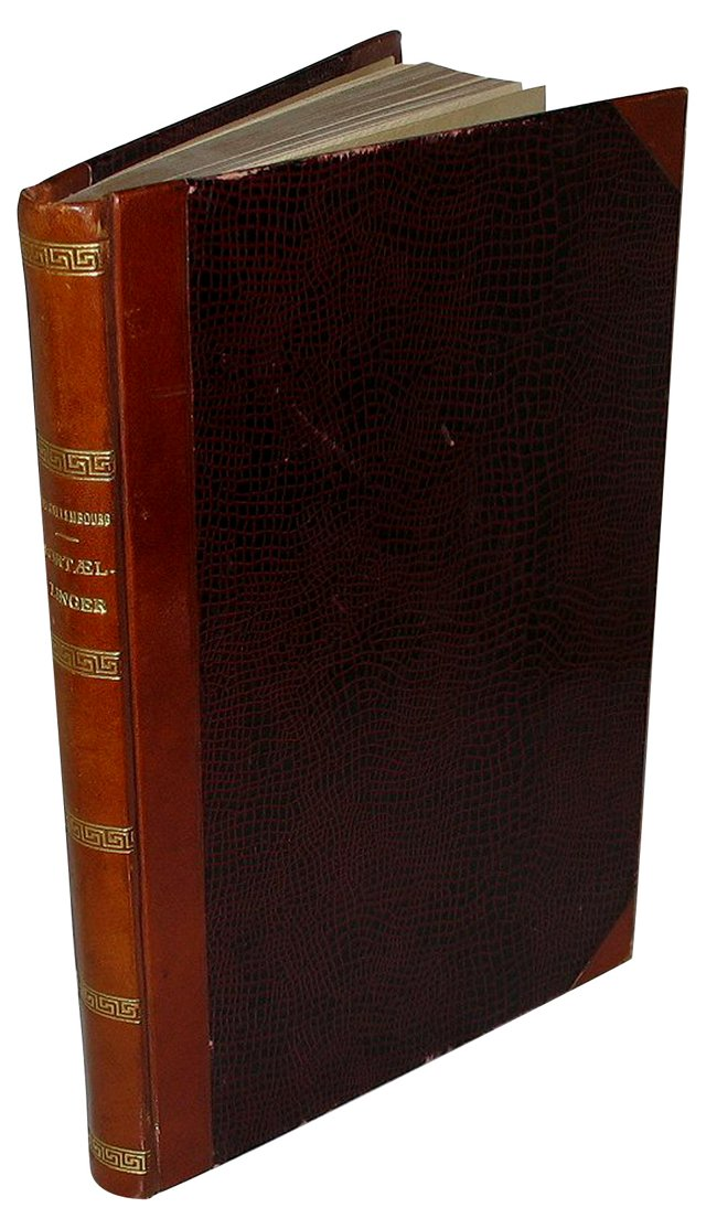 Decorative Burgundy Danish Book