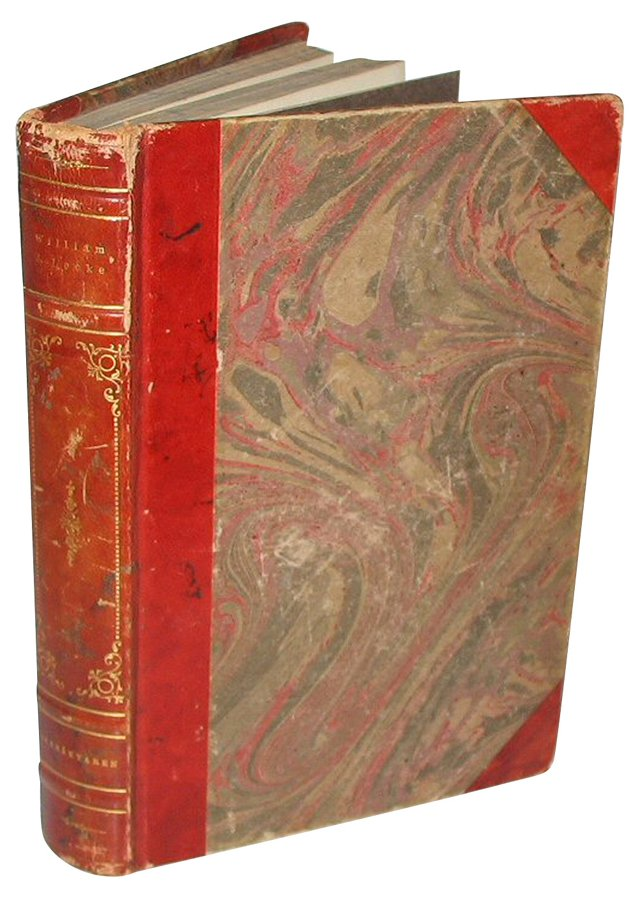Red Leather Decorative Book
