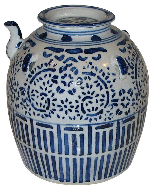 Chinese Blue & White Teapot