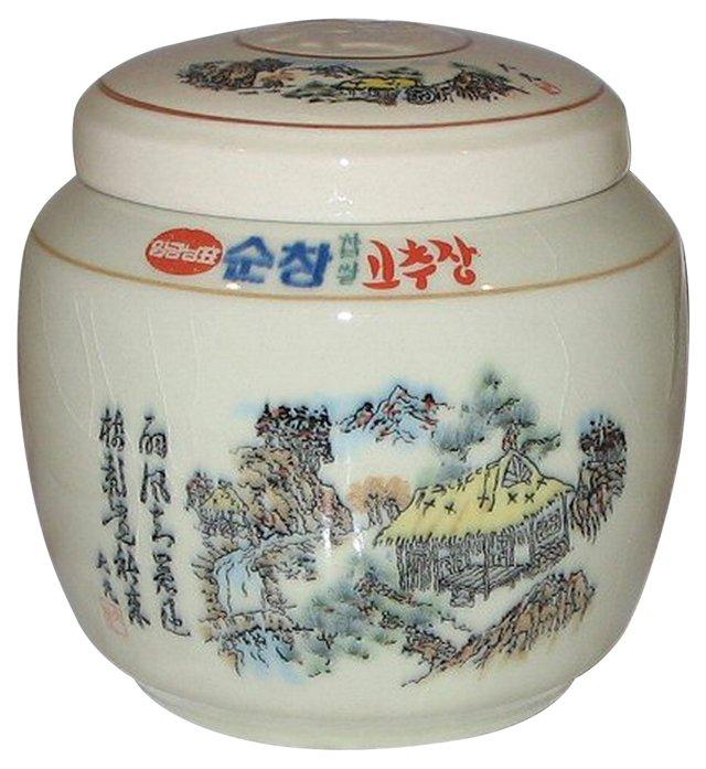 Lidded Asian Ginger Pot