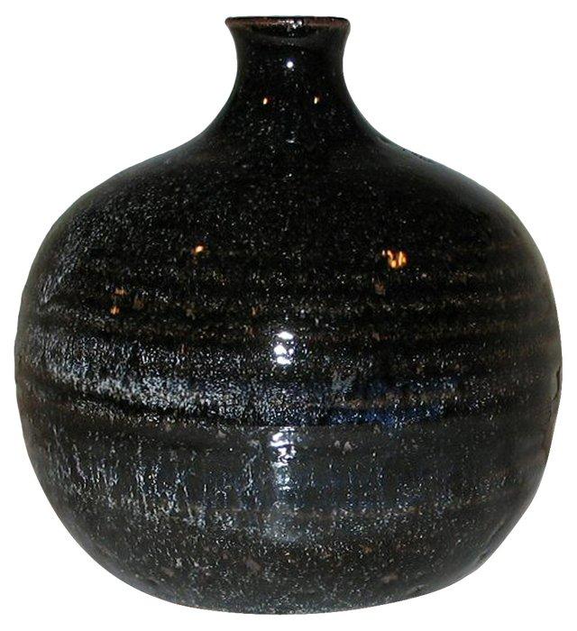 Glazed Bottle Vase