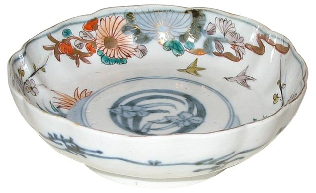 Chinese Scalloped Bowl w/ Birds