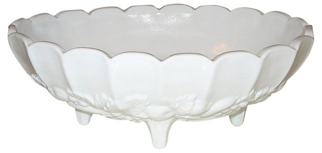 Footed Milk Glass Compote