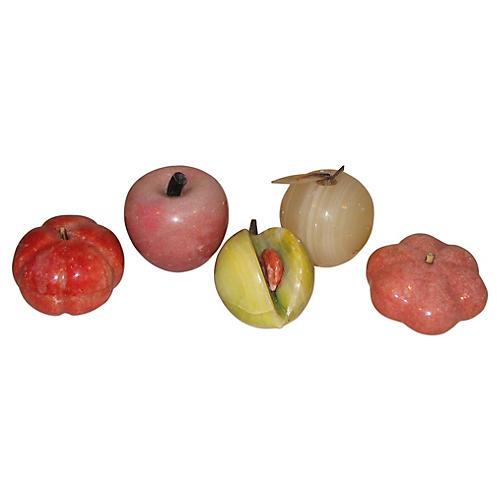 Polished Stone Fruit, S/5