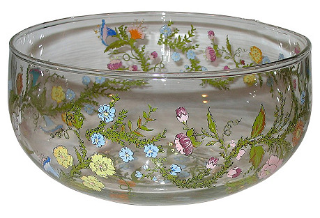 Dorothy C Thorpe Round Glass Bowl