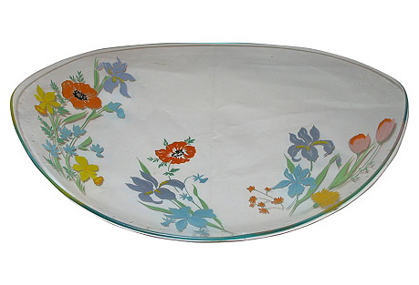 Dorothy C Thorpe Oval Glass Tray