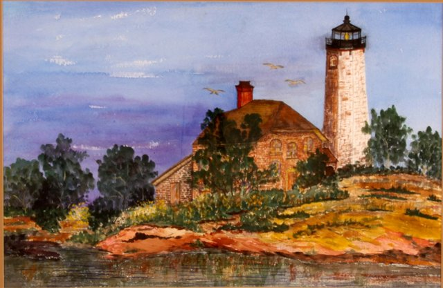 Lighthouse into Evening