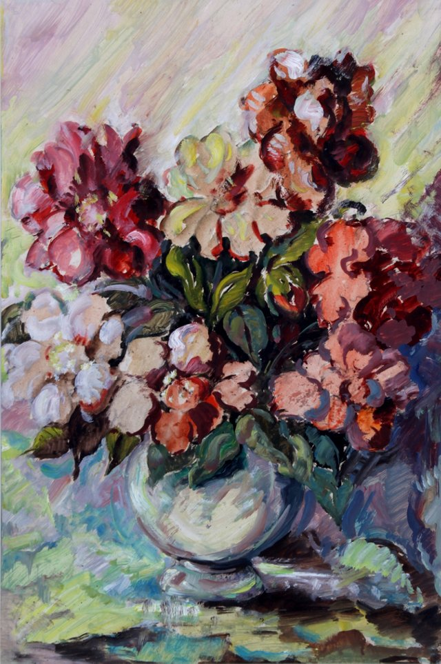 Peonies in Red & White