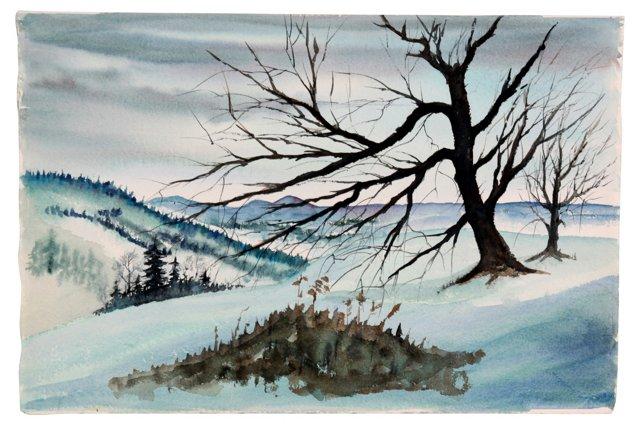 Winter  Mountainscape
