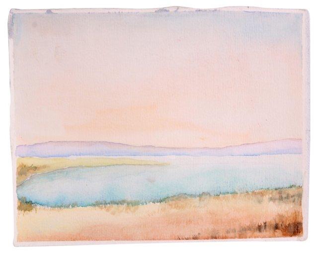 Lakeside Watercolor
