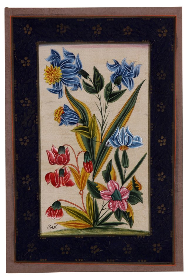 Mughal-Style Flowers