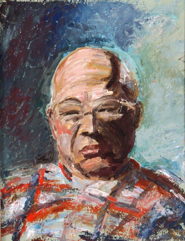Portrait in Plaid