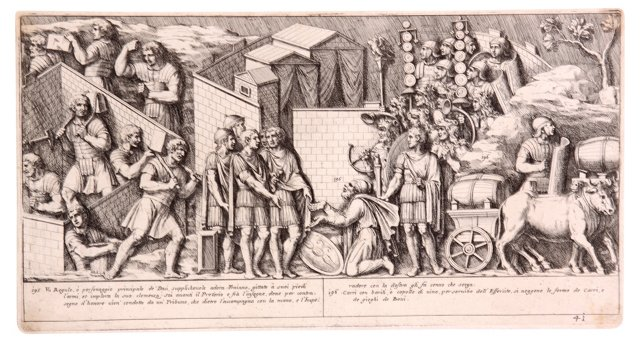 17th-C. Etching of Ancient Rome