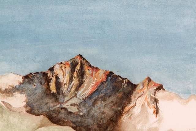 Italian Countryside  Watercolor, 1985