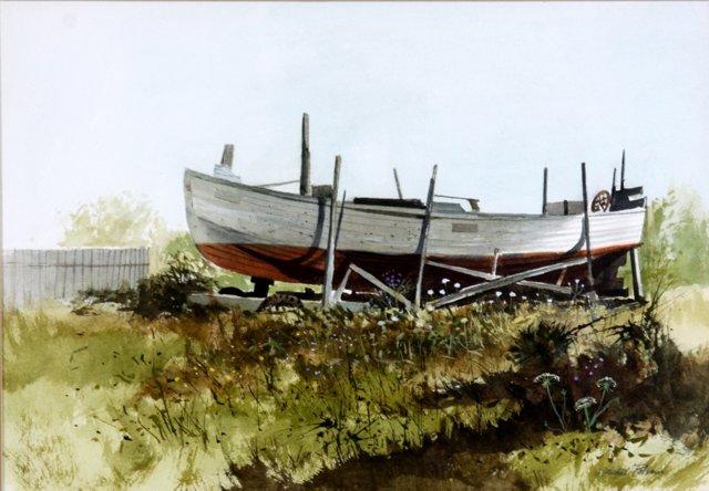 Boating in Watercolor by J. Polseno