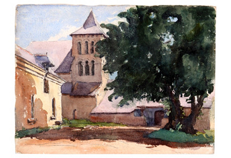 Romanesque Church, C. 1930