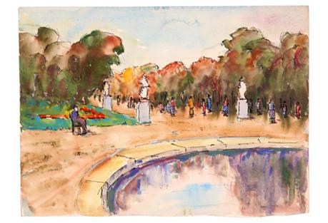 Parisian Gardens, C.      1930