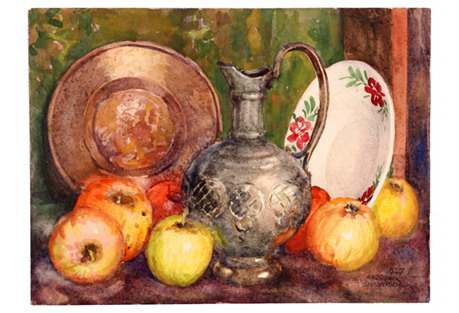 Apples & Jug, 1947