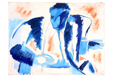 Blue Male Figure, C. 1950