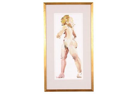Nude Female Watercolor