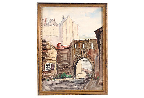 French Town Gate, C. 1930