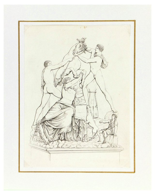 Farnese Museum Statues, C. 1820, Pair